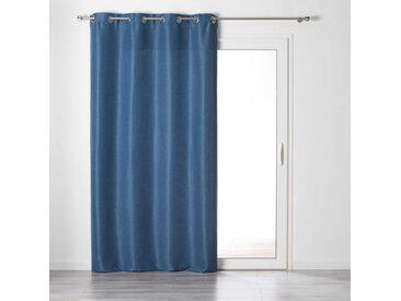 Rideau tamisant Chambray Glory bleu indigo 140x240 cm