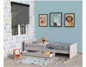 Lit enfant évolutif avec tiroir en bois gris - LT14001