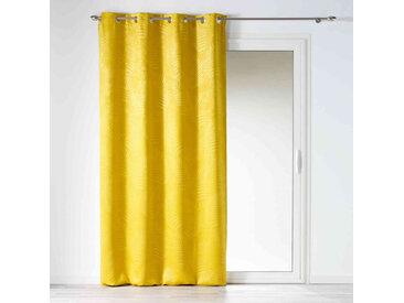 Rideau occultant velours Tropicaline jaune 140x240 cm