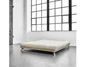 Ensemble Lit futon senza Naturel   matelas futon écru 140x200