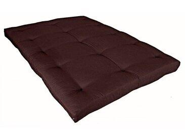 Matelas futon chocolat coeur en latex 140x190