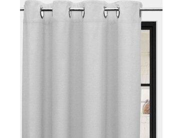 Rideaux à oeillets Panama blanc 135x250 cm