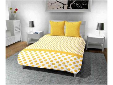 Couette imprimée Pois jaune 140x200 cm