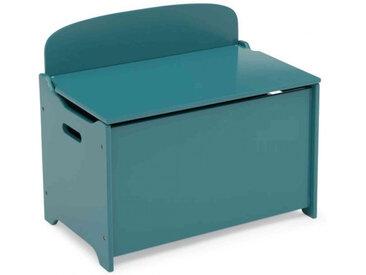 Coffre de rangement enfant en bois bleu canard - CJ15003