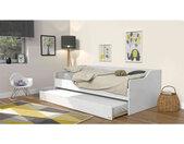 Lit gigogne en bois blanc 90x200 - LT14027