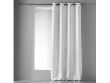 Rideau occultant Argent Optic blanc 135x240 cm