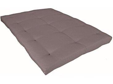 Matelas futon taupe coeur en latex 90x200