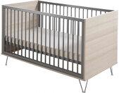Lit bébé évolutif en bois hêtre et gris réglable en hauteur Marit 70x140 - Geuther
