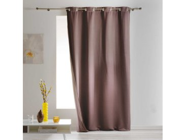 Rideau occultant isolant Covery taupe 140x260 cm