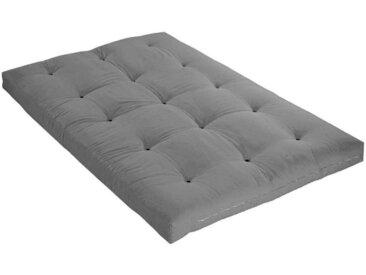 Matelas futon gris clair coeur en latex 140x200