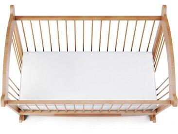 Drap housse jersey blanc pour lit bébé 100% coton 40x80