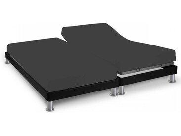 Drap housse anthracite TPR pour sommier articulé 2x70x190