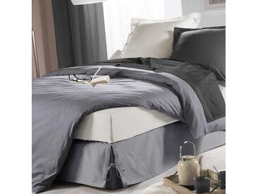 Cache-sommier à nouettes gris 140x190 cm