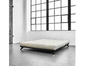 Lit futon senza en bois massif noir 160x200 cm