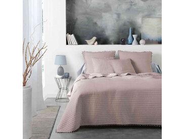 Couvre-lit à pompons Dorinette nude 180x220 cm
