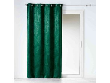 Rideau occultant velours Tropicaline vert 140x240 cm