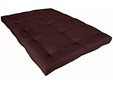 Matelas futon chocolat coeur en latex 160x200