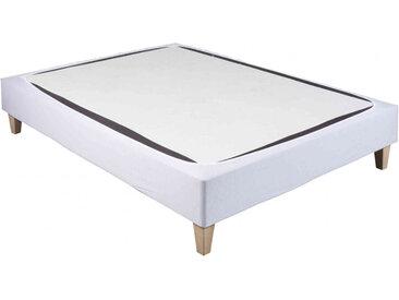 Cache-sommier coton jersey blanc 70x190 à 80x200