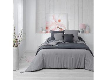 Couvre-lit matelassé à pompons Dune gris 240x220 cm