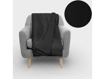 Plaid macramé 140x200 cm noir