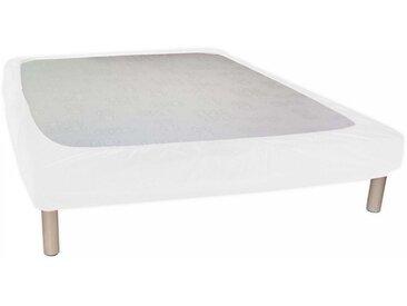 Cache Sommier Blanc à Bande Enveloppante 120x190