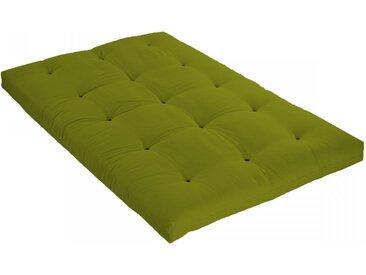 Matelas futon vert pistache coeur en latex 140x200