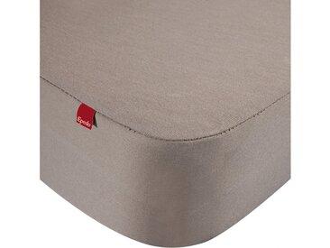 Drap housse protège matelas imperméable 2 en 1 Epeda marron 120x200