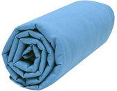 Drap housse bébé 100% coton bio 60x120 bleu nordique