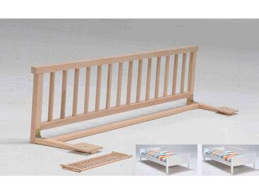 Barrière de lit bébé en bois massif hêtre 120 cm
