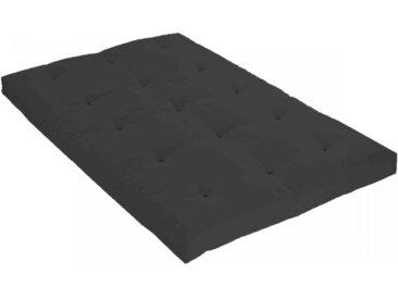 Matelas futon anthracite coeur en latex 90x190
