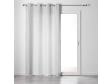 Rideau tamisant Chambray Glory gris 140x240 cm