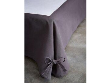 Cache sommier intégral coton anthracite 140x190