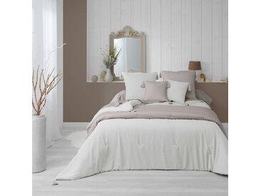 Couvre-lit matelassé à pompons Dune naturel 240x220 cm