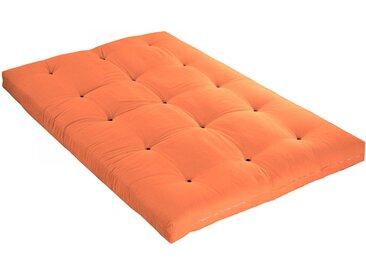 Matelas futon orange goyave coeur en latex 140x190