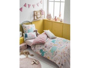 Parure de lit enfant Princesse chat 140x200 cm