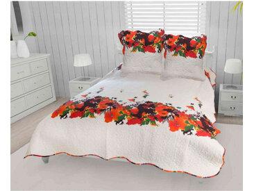 Couvre-lit Amélie 240x220 cm   2 taies d'oreillers