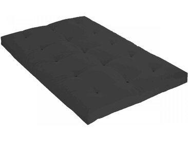 Matelas futon anthracite coeur en latex 140x190