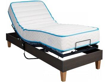 Ensemble relaxation Someo latex 90   sommier TPR 50 chêne foncé 80x200
