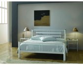 Lit en métal blanc 120x190 - LT4004