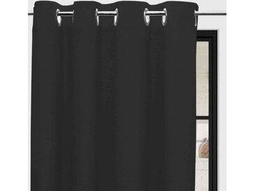 Rideaux à oeillets Panama anthracite 135x250 cm