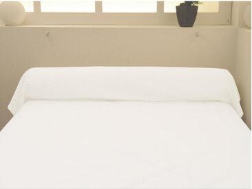 Taie de traversin 100% coton blanc 140 cm