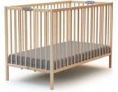 Lit bébé pliant hêtre en bois massif 60x120