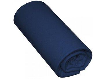 Drap Housse Bébé 100% Coton Bleu Marine 60x140 - Bonnet 15 cm