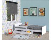 Lit enfant évolutif avec tiroir en bois blanc - LT14001
