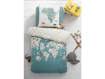 Parure de lit enfant Mappemonde 140x200 cm