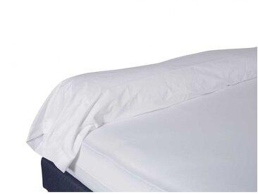 Taie de traversin 100% coton blanche 160 cm