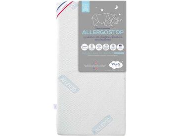 Matelas bébé allergostop déhoussable et lavable 70x140