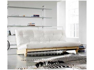 Banquette futon fresh en bois brut 140x200 - Terre de Nuit