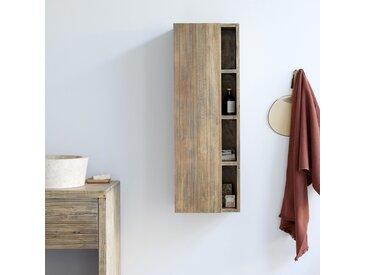 Colonne de salle de bain suspendue en bois d'hévéa 100