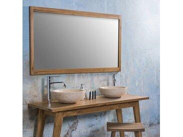 Miroir rectangulaire en bois de teck 150